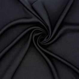 Flexible twill in viscose - black