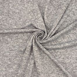 Knit fabric in polyester - mottled grey