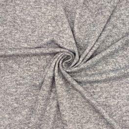 Tissu maille en polyester gris chiné