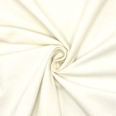 Velours milleraies extensible blanc