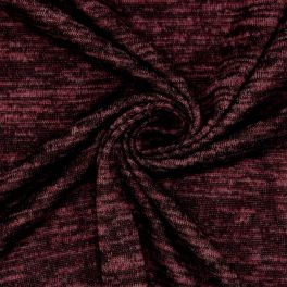 Mottled knit fabric in polyester
