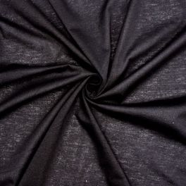 Jersey 100% polyester noir