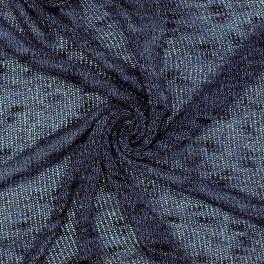 Knit fabric with silver fantasy thread