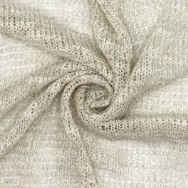 Knit fabric with silver fantasy thread