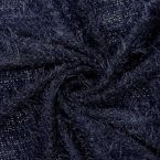 Knit fabric with fantasy thread