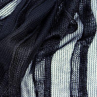 Tissu maille légère en polyester noir