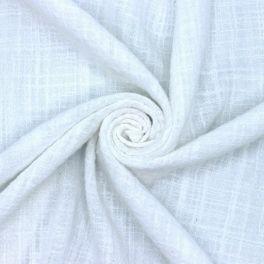 Extensible cotton veil - white