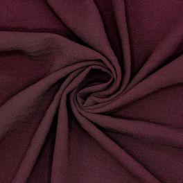 Tissu crêpe bordeaux