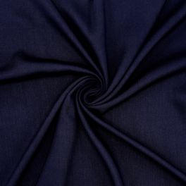 Soepele twill in viscose - marine blauw