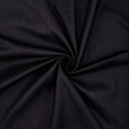 Rekbare kledingstof - zwart