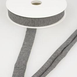 Biais jersey extensible gris moyen