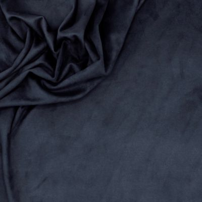 Extensible suede fabric - navy blue
