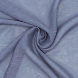 Voile aspect lin bleu
