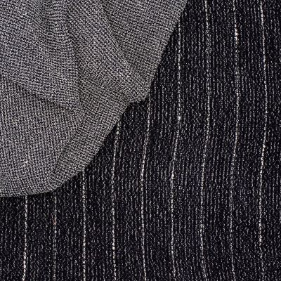 Heavy viscose fabric with stripes