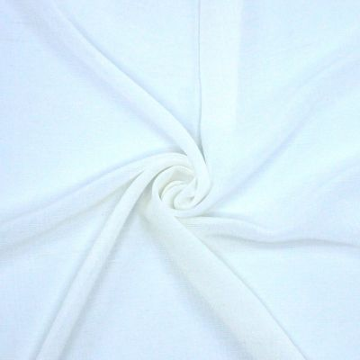 Thin veil with linen aspect - white