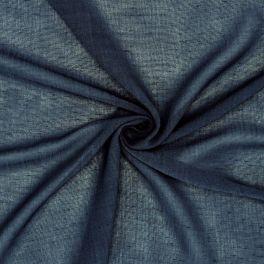 Sluier met crêpe aspect - marineblauw