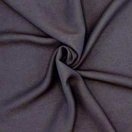 Viscose met linnen effect - marineblauw