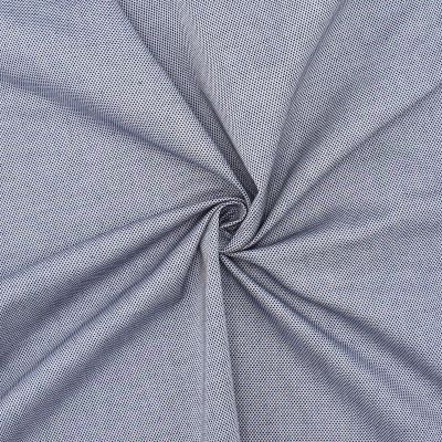 Extensible cotton with pattern - blue and grey