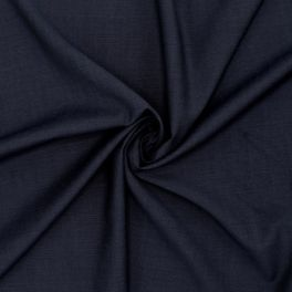 Extensible wool fabric - navy blue