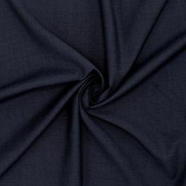 Rekbare stof in wol - marineblauw