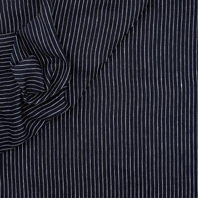 100% linnen met strepen - blauw