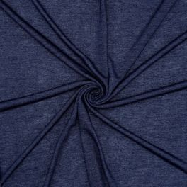 Jersey viscose imitatie jeans - blauw