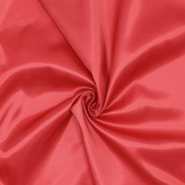 Satijn voeringstof 100% polyester - rood