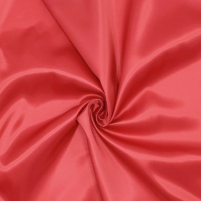100% polyester satin lining - red