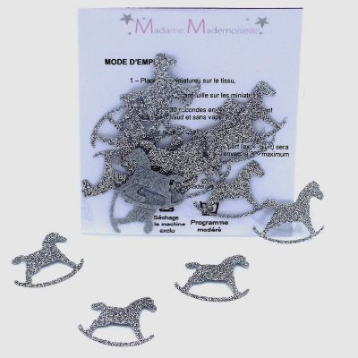 Mini iron-on patch rocking horse