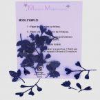 Mini Opstrijkbare glitters - blauw