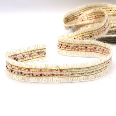 Fantasy ribbon with wool aspect - off white