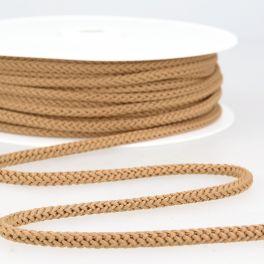 cordon tricoté caramel