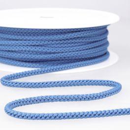 cordon tricoté bleu nattier
