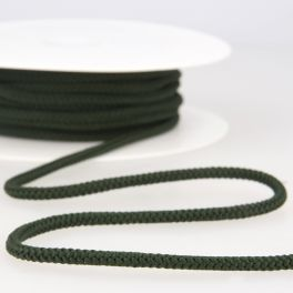 cordon tricoté vert forêt