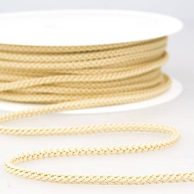 cordon tricoté beige clair