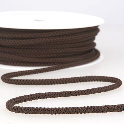 Braided cord - dark brown