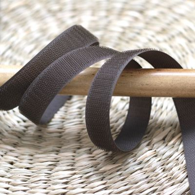Hook velcro to sew - brown