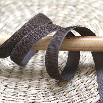 Velcro crochet  à coudre brun