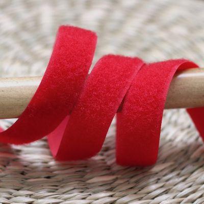 Velcro velours à coudre rouge