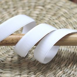 Hook velcro to stick - white
