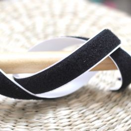 Velcro velours adhésif noir