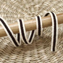 Fantasy braid trim - black and off white