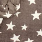 Tissu Minkee taupe motif étoile