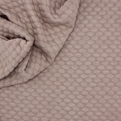 Jersey fabric with relief pattern - rosé beige