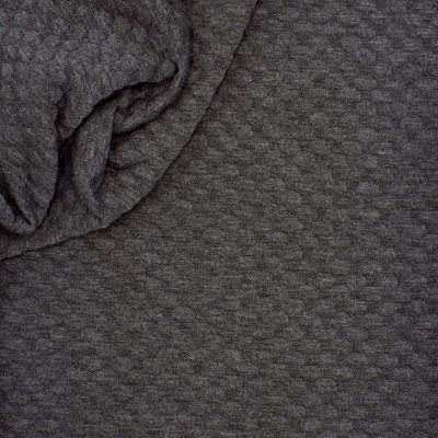 Jersey fabric with relief pattern - dark grey