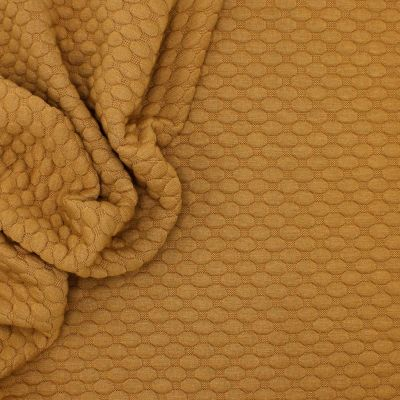 Jersey fabric with relief pattern - camel