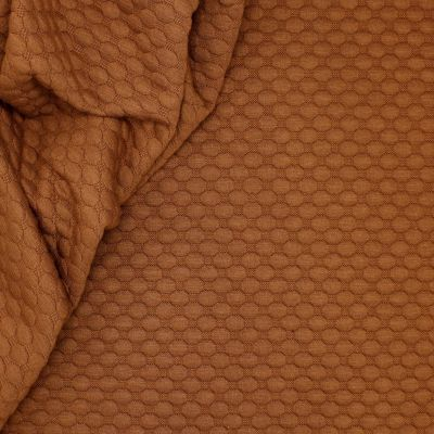 Jersey fabric with relief pattern - brown