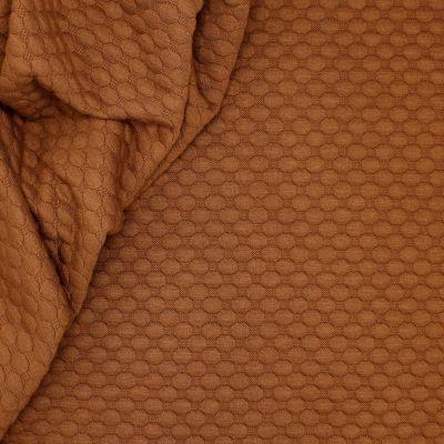 Jerseystof met relief motief - bruin