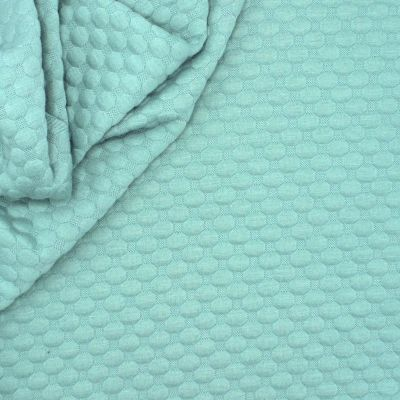 Jersey fabric with relief pattern - sage green