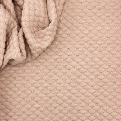 Jersey fabric with relief pattern - old pink